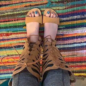 Torrid Knee-Length Gladiator Sandals size 11